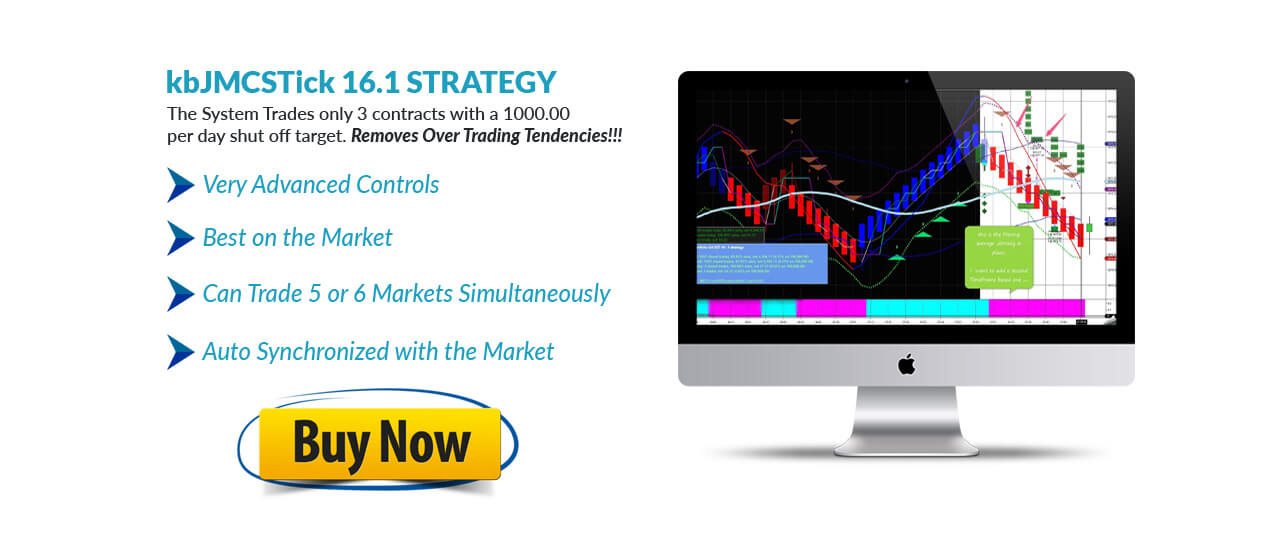 kbJMCSTick 16.1 STRATEGY - Break-evens to max Daily wins and Loss shutoffs to prevent over trading.